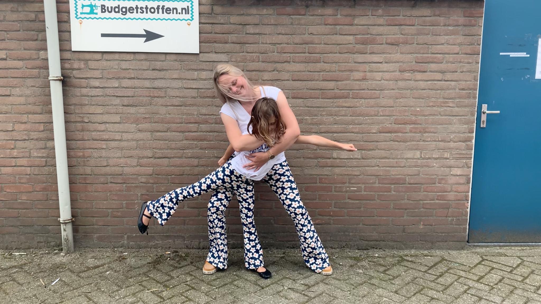 DIY twinning flared pants