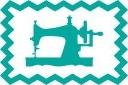 Gebreide tricot - aqua