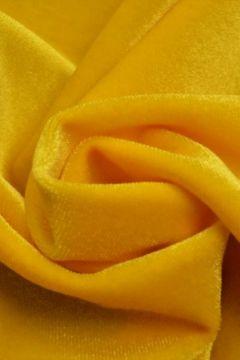 lycra fluweel / velours geel