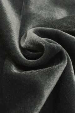 lycra fluweel / velours donker grijs