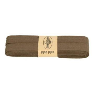 tricot de luxe biaisband oaki doki donker bruin