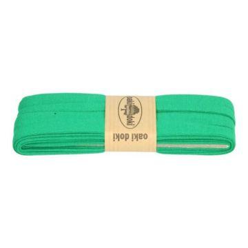 tricot de luxe biaisband oaki doki smaragd groen