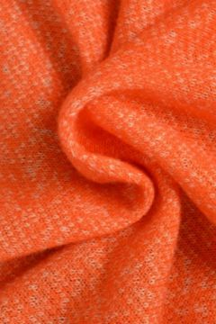 Gemeleerde Jogging Sweaterstof - oranje