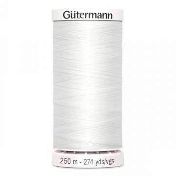 Gütermann 250 meter naaigaren - wit