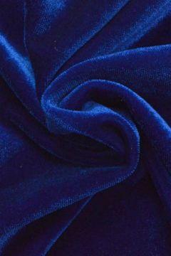 lycra fluweel / velours kobalt donker blauw