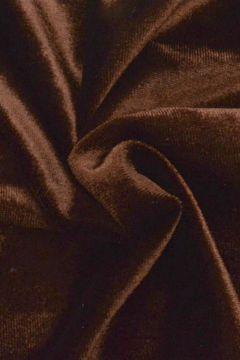 lycra fluweel / velours donker bruin