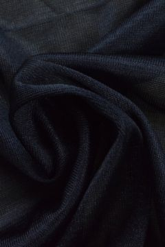 Charmeuse Tricot Voering Navy Blauw