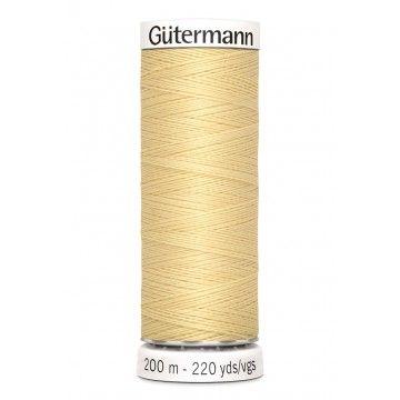 Gütermann 200 meter naaigaren - geel ecru