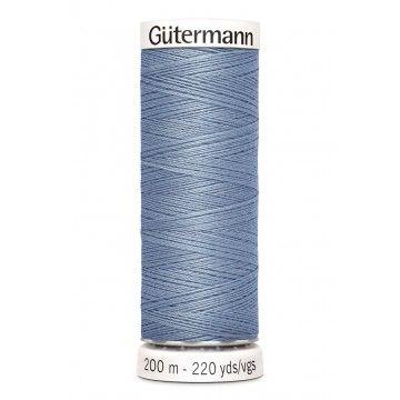 Gütermann 200 meter naaigaren - grijs blauw