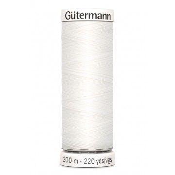 Gütermann 200 meter naaigaren - wit