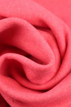 Koraal roze gemêleerde wol