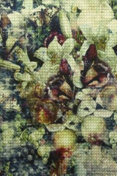 Viscose Tricot - Pixel Flower