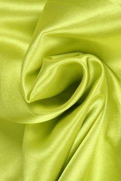 Lime Gele Satijn