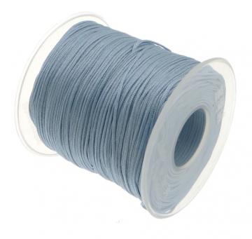 satijn speenkoord 1mm zacht blauw