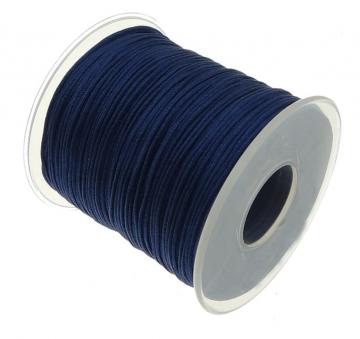 satijn speenkoord 1mm donkerblauw