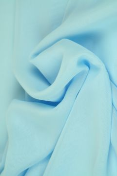 Licht Blauwe Chiffon