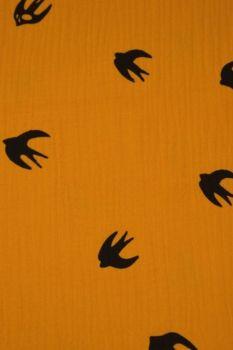 Hydrofiel Doek vogels oker