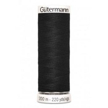 Gütermann 200 meter naaigaren - zwart