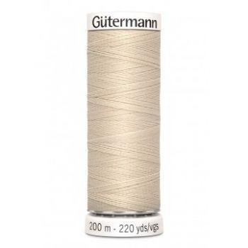 Gütermann 200 meter naaigaren - licht beige