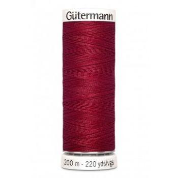 Gütermann 200 meter naaigaren - donker kersen