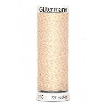 Gütermann 200 meter naaigaren - warm creme