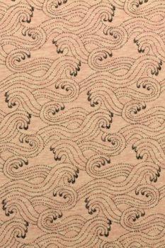 katoenen tricot in het gemêleerd roze met een golvende print