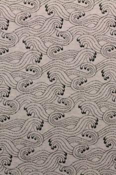 katoenen tricot in het gemêleerd paars met een golvende print