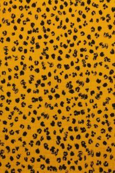 Hydrofiel Stof - Spots Ocher
