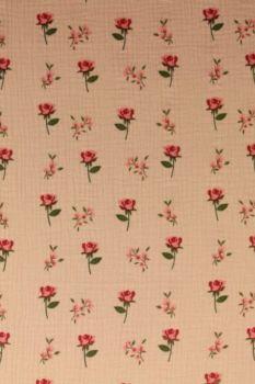 Hydrofiel Stof - Roses Old Pink