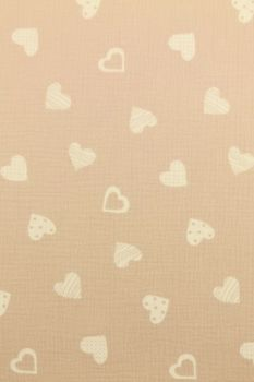 Hydrofiel Stof - Lovely Hearts Old Pink