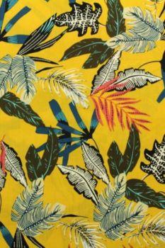 tropische bladeren zacht geel
