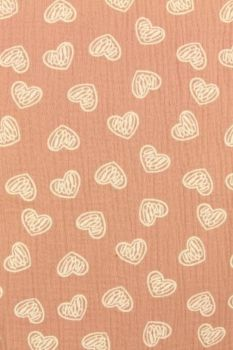 Scratched hearts on Pink