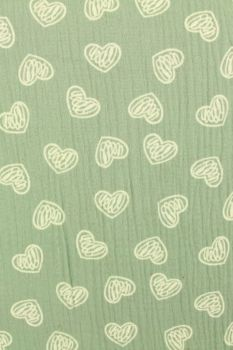 Scratched hearts on Vintage Mint