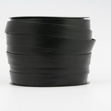 Zwarte Biaisband van Kunstleer