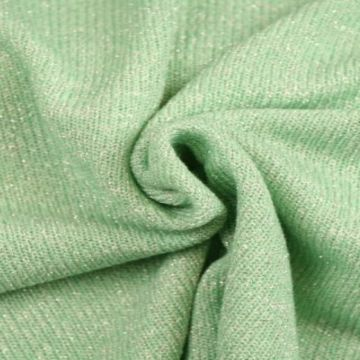 gebreide lurex glitter tricot mint