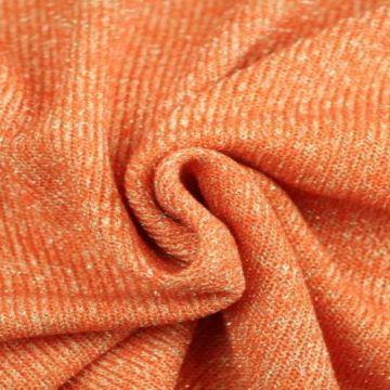 gebreide lurex glitter tricot oranje