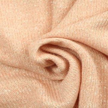 gebreide lurex glitter tricot zalm