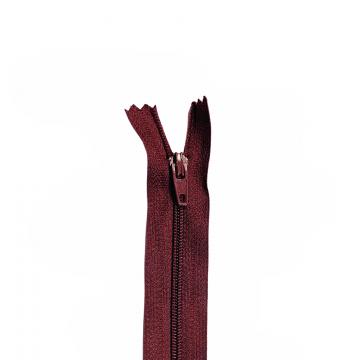 Nylon Rits - Niet Deelbaar - 60cm -11 - Wine Red