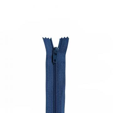 Nylon Rits - Niet Deelbaar - 60cm -13 - Blue