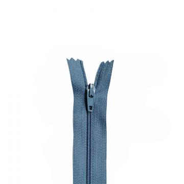 Nylon Rits - Niet Deelbaar - 60cm -14 - Stealblue