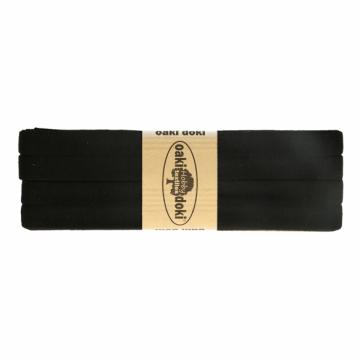 tricot de luxe biaisband oaki doki zwart