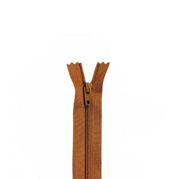 Nylon Rits - Niet Deelbaar - 60cm -25 - Cognac