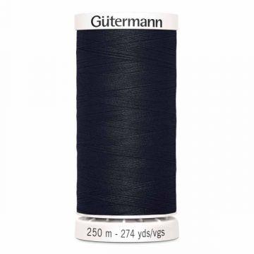 Gütermann 250 meter naaigaren - zwart