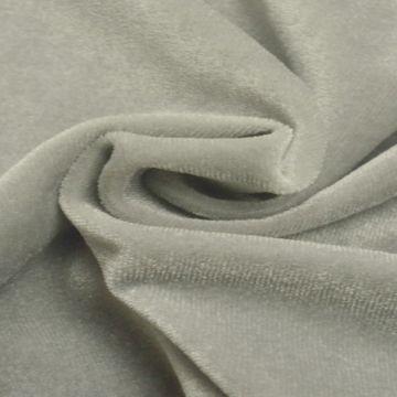 lycra fluweel / velours zilver grijs