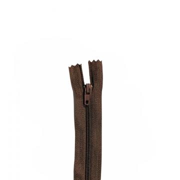 Nylon Rits - Niet Deelbaar - 60cm -26 - Dark Brown