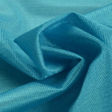 Charmeuse Tricot Voering Petrol Blauw