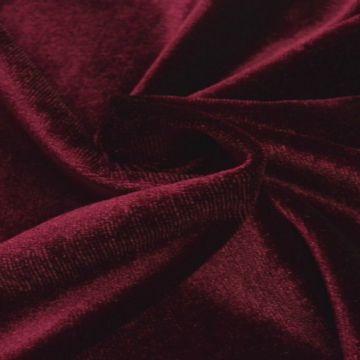 lycra fluweel / velours donker rood