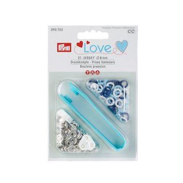 Prym Love Drukknopen - Blauw/Wit