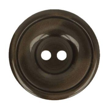 Blouse Knoop 12,5mm - Donker Bruin