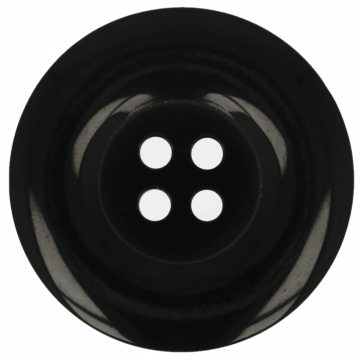 Knoop Zwart - 25 mm
